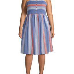 Romantic Gypsy Women's Plus Size Smocked Midi Dress | Walmart (US)