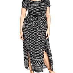 Smocked Off-the-Shoulder Maxi Dress | Bloomingdale's (US)
