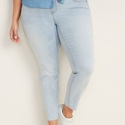 High-Waisted Distressed Rockstar Super Skinny Plus-Size Jeggings   Old Navy (US)