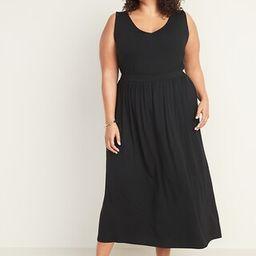 Sleeveless Plus-Size Waist-Defined Maxi Dress   Old Navy (US)
