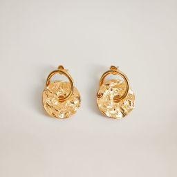 Metal pendant earrings | MANGO (US)
