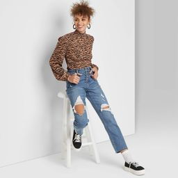 Women's High-Rise Distressed Straight Ankle Length Jeans - Wild Fable™ Light Wash | Target
