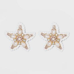SUGARFIX by BaubleBar Mixed Media Starfish Stud Earrings - White | Target