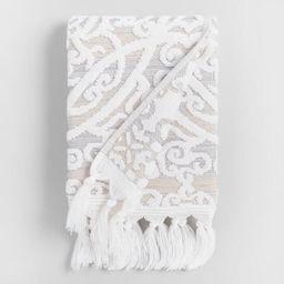 Taupe Medallion Scarlett Sculpted Hand Towel | World Market