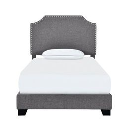 Pomfret Upholstered Standard Bed Zipcode Design Size: Twin, Color: Stone Gray | Wayfair North America