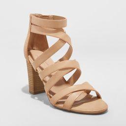 Women's Miranda Ankle Strap Sandals - Universal Thread Taupe 7.5, Brown   Target