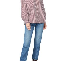 Polo Ralph Lauren Red Striped Button Up   Rent The Runway