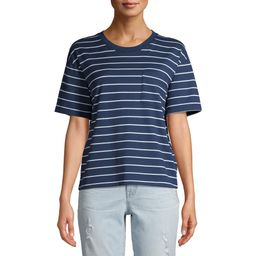 Time and Tru Pima Cotton Women's Boyfriend T-Shirt | Walmart (US)