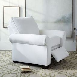 PB Comfort Roll Arm Upholstered Recliner | Pottery Barn (US)
