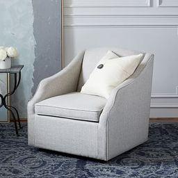 SoMa Emma Upholstered Swivel Armchair | Pottery Barn (US)