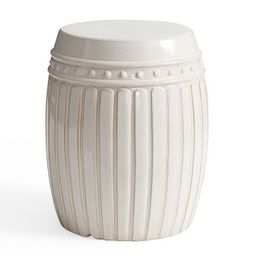 Reeded Ceramic Side Table | Pottery Barn (US)