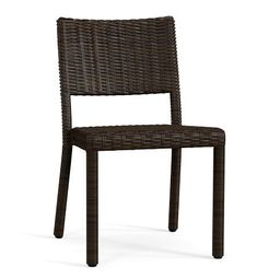 Torrey All-Weather Wicker Stackable Dining Chair, Espresso | Pottery Barn (US)