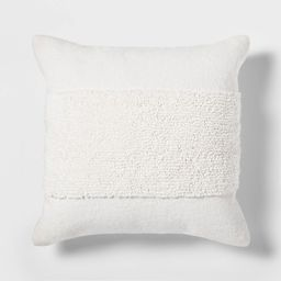 Tufted Modern Pattern Square Pillow White - Project 62 | Target