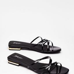 Strappy for You Faux Leather Flat Sandals | NastyGal (US & CA)