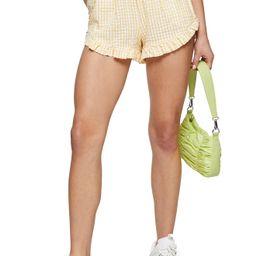 Women's Topshop Seersucker Gingham Shorts, Size 8 US - Yellow | Nordstrom
