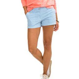 Southern Tide 3 Leah Seersucker Shorts (Boat Blue) Women's Shorts | Zappos