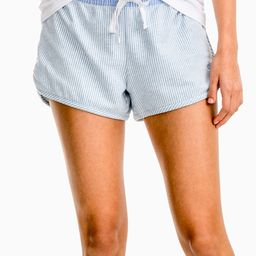 Southern Tide Women's Casual Shorts Heather - Heather Forever Blue Stripe Knit Lounge Shorts - Women | Zulily