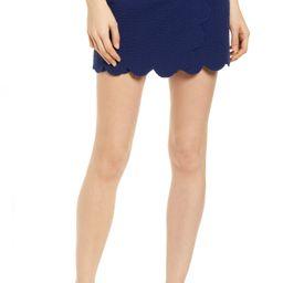 Women's Vineyard Vines Scallop Seersucker Stretch Cotton Performance Skort, Size 8 - Blue   Nordstrom
