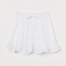H & M - Short Cotton Skirt - White   H&M (US)