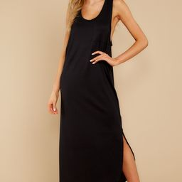 One Thing Or Another Black Maxi Dress | Red Dress