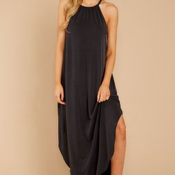 Close Your Eyes Black Maxi Dress | Red Dress