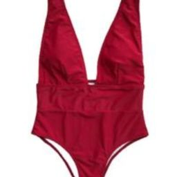 'Samantha' Plunge Neck Swimsuit (5 Colors) | Goodnight Macaroon