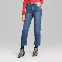 Women's High-Rise Straight Leg Ankle Length Jeans - Wild Fable™ (Regular & Plus) Medium Wash | Target
