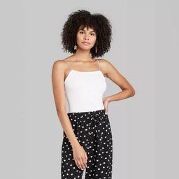 Women's Sleeveless Square Neck Elastic Strap Bodysuit - Wild Fable™ (Regular & Plus)   Target