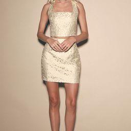 So Popular Cream and Gold Leopard Print Mini Skirt   Lulus (US)