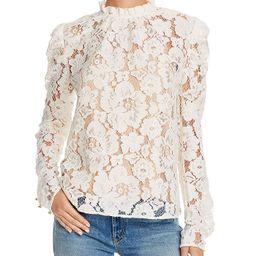 Erika Puff-Sleeve Lace Top | Bloomingdale's (US)