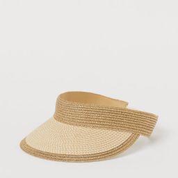Braided Straw Sun Visor | H&M (US)