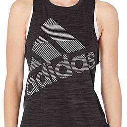 adidas Womens Badge of Sport Logo Tank | Amazon (US)