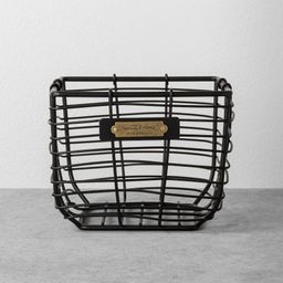 Small Wire Storage Basket Black - Hearth & Hand with Magnolia | Target