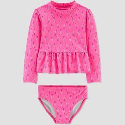 Toddler Girls' Flamingo Swim Rash Guard Set - Just One You® made by carter's Pink | Target
