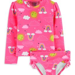 Child of Mine by Carter's Toddler Girl Rash Guard Two Piece Swimsuit | Walmart (US)