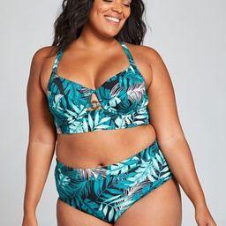 Longline Underwire Balconette Swim Bikini Top | Lane Bryant (US)