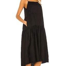 Cotton Tiered Dress in Black   Revolve Clothing (Global)