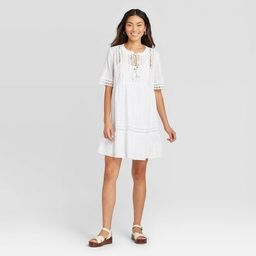 Women's Short Sleeve With Lace Details Shift Dress - Knox Rose™   Target