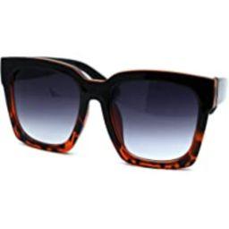 Womens Boyfriend Style Oversize Horned Rim Thick Plastic Sunglasses   Amazon (US)