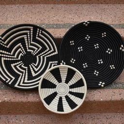 African Wall Basket Decor Set, African Home Decor Wall Basket Collection, Woven Basket Set of 3, ...   Etsy (US)
