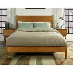 Easmor Platform Bed Langley Street™ Color: Acorn, Size: Queen | Wayfair North America