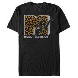MTV Men's Cheetah Print Logo T-Shirt   Target