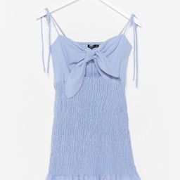 Take Our Shirred for It Bow Mini Dress | NastyGal (US & CA)
