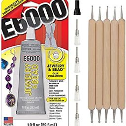 E6000 1-Ounce Jewelry and Bead Adhesive with 4 Precision Applicator Tips for Jewelry Pixiss Art D... | Amazon (US)
