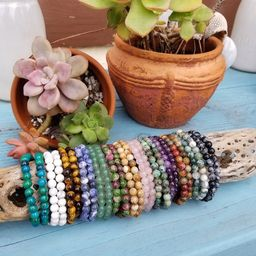 Crystal Stacking Bracelets 6mm. Genuine Crystal Bracelets. Crystal Healing Bracelets. Gemstone Br... | Etsy (US)