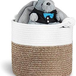 "Polarduck Cotton Rope Basket 13"" x 12"" x 11"", Baby Laundry Basket, Laundry Hamper, Woven Bl...   Amazon (US)"