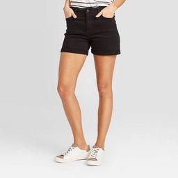 Women's High-Rise Slim Fit Jean Shorts - Universal Thread™ Black | Target
