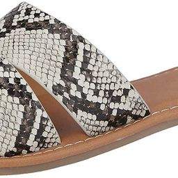 Slide Flat Sandal with Woven Single Over The Toe Strap | Amazon (US)
