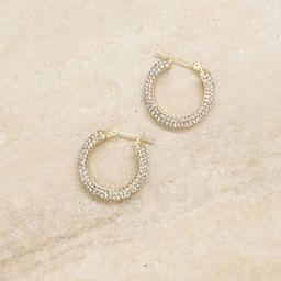 Sparkle Bits Mini Crystal 18k Gold Plated Hoops | Ettika