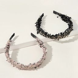 2pcs Tweed Headband         SKU: swhairac03191008067                   128 Reviews               ...   ROMWE